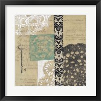Filigree & Key II Framed Print