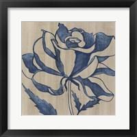 Framed Indigo Rose