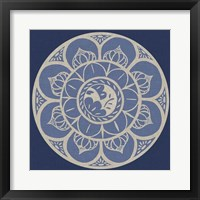 Indigo Earthenware I Framed Print