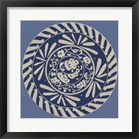 Indigo Earthenware II Framed Print