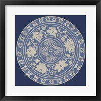 Indigo Earthenware IV Framed Print