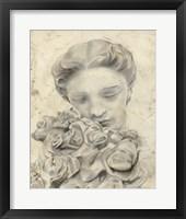 Statue in the Garden I Framed Print
