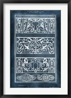 Ornamental Iron Blueprint I Framed Print