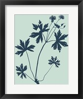 Framed Indigo & Mint Botanical Study III