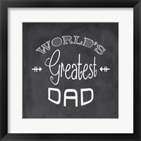Framed World's Greatest Dad - black