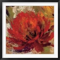Framed Fiery Dahlias II