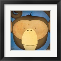 Framed Monkey WOW