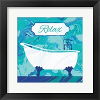 Marbled Bath I Framed Print