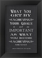 Framed Achieving Your Goals