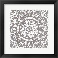 Framed Woodblock Pattern I
