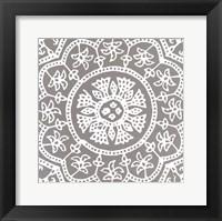 Woodblock Pattern I Framed Print