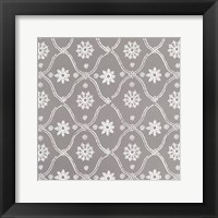 Woodblock Pattern II Framed Print