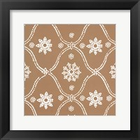 Woodblock Pattern III Framed Print