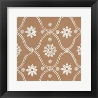 Woodblock Pattern III Framed Print