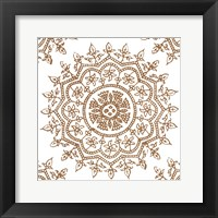 Woodblock Pattern IV Framed Print