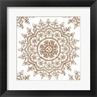 Woodblock Pattern IV Framed Print