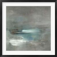Framed Misty Pale Azura Sea