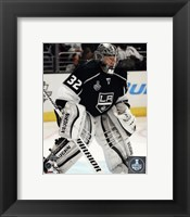 Framed Jonathan Quick Game 2 of the 2014 Stanley Cup Finals Action