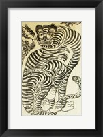 Framed Korean Folk Tiger