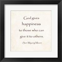 Framed God Gives Happiness
