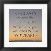 Framed Set Goals