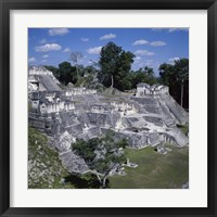 Framed Tikal Mayan Guatemala