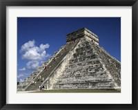 Framed El Castillo Pyramid