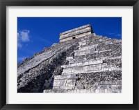 Framed El Castillo Chichen Itza up close