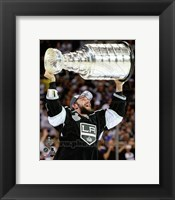 Framed Alec Martinez with the Stanley Cup Game 5 of the 2014 Stanley Cup Finals