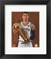 Framed Danny Green with the NBA Championship Trophy Game 5 of the 2014 NBA Finals