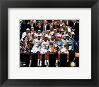 Framed San Antonio Spurs Celebrate Game 5 of the 2014 NBA Finals
