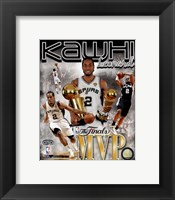 Framed Kawhi Leonard 2014 NBA Finals MVP Portrait Plus