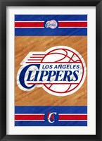 Framed Los Angeles Clippers - Logo 14
