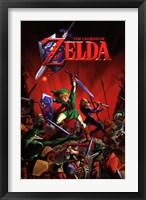 Framed Zelda - Battle