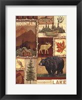 Lodge Collage I Framed Print