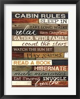 Framed Cabin Rules