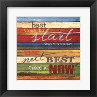 The Best Time Framed Print
