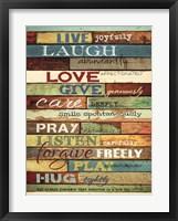 Framed Live Joyfully