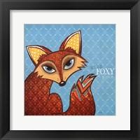 Wild, Foxy & Free Framed Print
