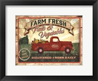 Framed Farm Fresh Produce