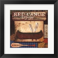 Framed Red Canoe Lodge