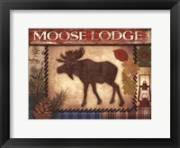 Framed Moose Lodge