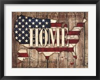 Framed USA Home