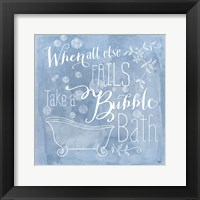 Framed Take a Bubble Bath