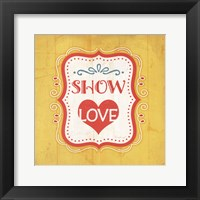 Show Love Framed Print