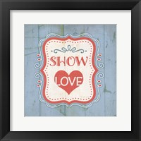 Show Love - Blue Framed Print