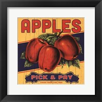Apple Label Framed Print