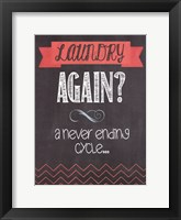 Laundry Again Framed Print
