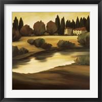 Framed Country Lake Vista