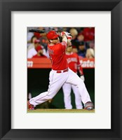 Framed David Freese baseball 2014